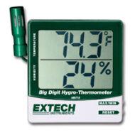 Extech 445715 Páratartalommérő és hőmérsékletmérő kijelző külső szondával