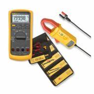 Fluke 87V + i410 + L215 digitális multiméter, i410 lakatfogóval és L215 mérőzsinór készlettel