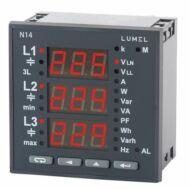 Lumel N14 3-fázisú hálózati teljesítménymérő