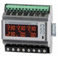 Lumel N43 DIN sínre szerelhető 3-fázisú hálózati teljesítménymérő