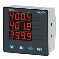 Lumel ND04 1- és 3-fázisú hálózati teljesítménymérő