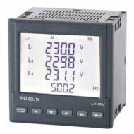 Lumel ND20 LITE 1- és 3-fázisú hálózati teljesítménymérő