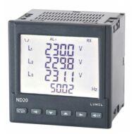 Lumel ND20 1- és 3-fázisú hálózati teljesítménymérő