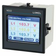 Lumel ND22 1- és 3-fázisú hálózati teljesítménymérő