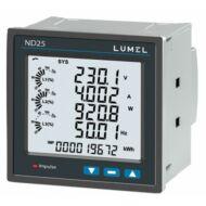 Lumel ND25 1- és 3-fázisú hálózati teljesítménymérő