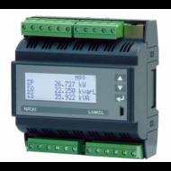 Lumel NR30 DIN sínre szerelhető 3-fázisú hálózati teljesítménymérő