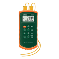 Extech 421502 Hőmérsékletmérő műszer J és K típusú, 2CH, riasztás funkcióval