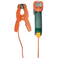 Extech 42515-T Infrahőmérő K típusú hőelem bemenettel és csőfogó hőmérőfejjel, 13:1, 1370 Celsius