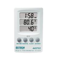 Extech 445702 Páratartalommérő, hőmérsékletmérő és óra