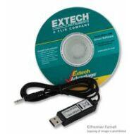Extech 407001 Adatgyűjtő szoftver és PC kábel