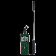 Extech AN340 Légsebességmérő, CMM, Nedvességmérő, Teleszkópos fej