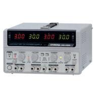 GW Instek GPS-4303 2x30V-2x3A + 5V-1A + 15V-1A, 4 csatornás, trafós tápegység