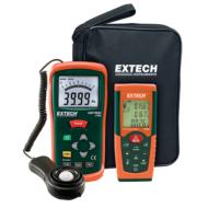 Extech LRK10Fénymérő és lézeres távolságmérő készletben
