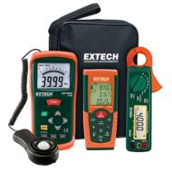 Extech LRK15Fénymérő, lézeres távolságmérő és lakatfogó készletben