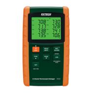Extech TM500Hőmérsékletmérő műszer, 12CH, J, K, E, T, R és S típusú