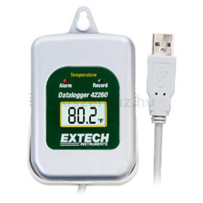 Extech 42275 hőmérsékletmérő és páratartalom adatgyűjtő