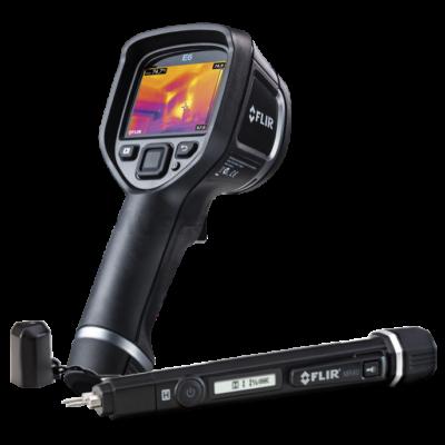 Flir E5xt hőkamera + Flir MR40 nedvességmérő