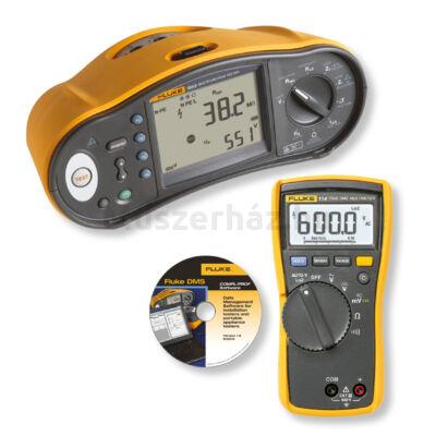 Fluke 1663 + 114 + DMS univerzális érintésvédelmi műszer, Fluke 114 multiméter és DMS Plus szoftver