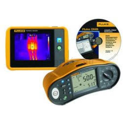 Fluke 1664FC + PTi120 univerzális érintésvédelmi műszer és hőkamera