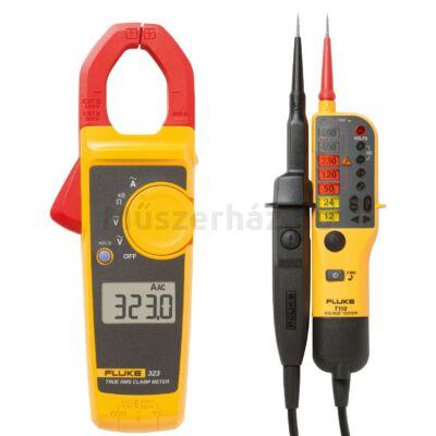 Fluke 323/T110 - 400A AC True RMS digitális lakatfogó és feszültség teszter