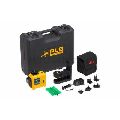 PLS Fluke 3X360G KIT 3-tengelyes 360 fokos lézeres szintező készlet, zöld