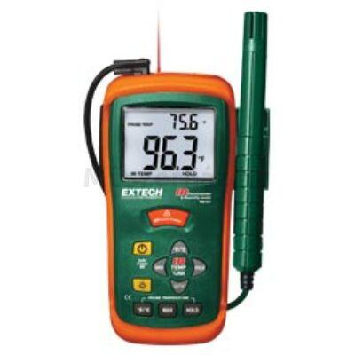 Extech RH101 Páratartalommérő, hőmérsékletmérő és Infrahőmérő