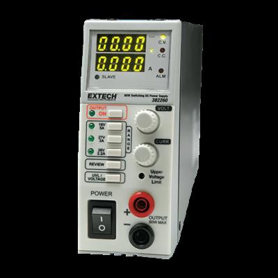 Extech 382260 3-in-1 DC kapcsoló üzemű tápegység 36V-2.2A, 27V-3A és 16V-5A