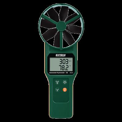 Extech AN320 Légsebességmérő, CMM, Nedvességmérő, CO2