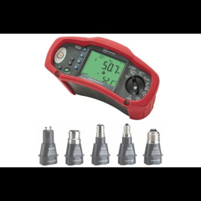 Amprobe ProInstall 200 KIT1 univerzális érintésvédelmi műszer + lámpa foglalat adapter készlet