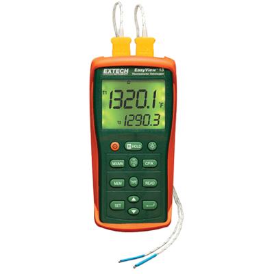 Extech EA15 Hőmérséklemtérő műszer és adatgyűjtő, 2CH, 7 féle hőelemhez
