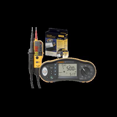 Fluke 1664FC + T150 + DMS érintésvédelmi műszer, Fluke T150 teszterrel és DMS szoftverrel