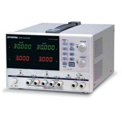 GW Instek GPD-2303S 2x30V-2x3A, 2 csatornás, trafós tápegység