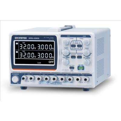 GW Instek GPE-2323 2x32V-2x3A, 2 csatornás, trafós tápegység