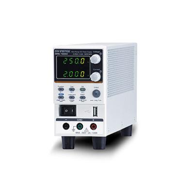 GW Instek PFR-100M, 250V-2A, 100W, 1 csatornás, kapcsoló üzemű ventillátor mentes tápegység