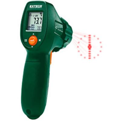 Extech IR300UV Infrahőmérő UV fényű szivárgás detektorral, 12:1, 500 Celsius