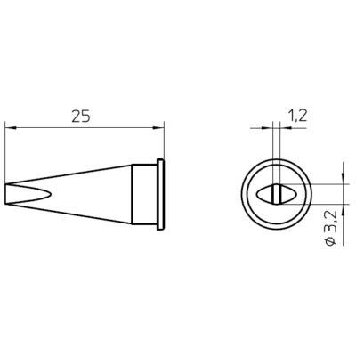 Weller LHT C forrasztócsúcs 3.2mm