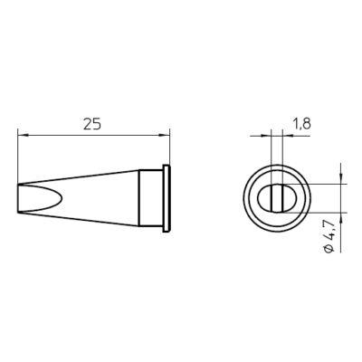 Weller LHT D forrasztócsúcs 4.7mm