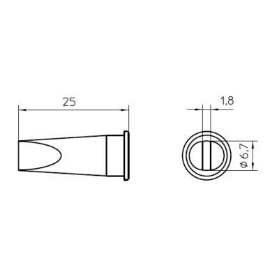 Weller LHT E forrasztócsúcs 6.7mm