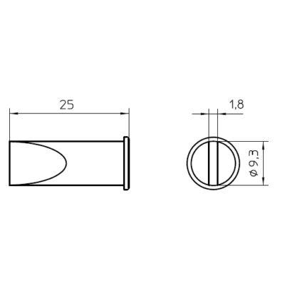 Weller LHT F forrasztócsúcs 9.3mm