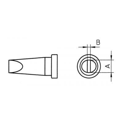 Weller LTR B 2 forrasztócsúcs 2.4mm (6mm)