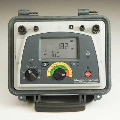 Megger DLRO10HD-KC1-TL3-C alacsony ellenállásmérő KC1-TL3-C mérővezetékkel