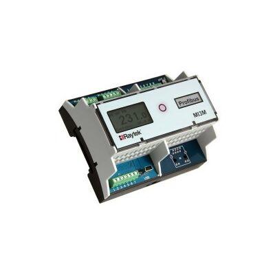 Raytek RAYMI3MCOMMA DIN sínre szerelhető moduláris kommunikációs 6TE doboz, maximum 4 mérőfejhez, USB és 4db galvanikusan leválasztott analóg kimenet