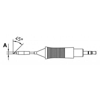 Weller RT 7MS forrasztócsúcs 45 fok 2.2mm