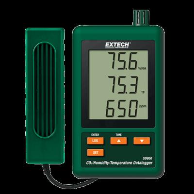 Extech SD800 Széndioxid, Páratartalom és Hőmérséklet Adatgyűjtő