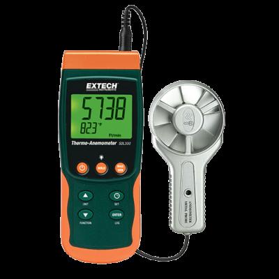 Extech SDL300 Légsebességmérő, fém lapátkerékkel, Adatgyűjtős