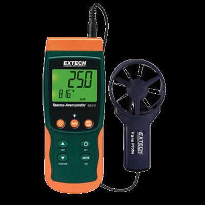 Extech SDL310 Légsebességmérő, Adatgyűjtős