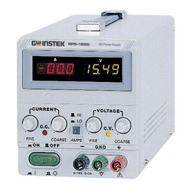 GW Instek SPS-1230 12V-30A, 1 csatornás, kapcsoló üzemű tápegység