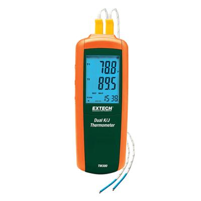Extech TM300Hőmérsékletmérő kéziműszer, K és J típusú, 2CH