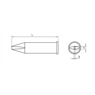 Weller XHT C forrasztócsúcs 3.2x1.2 mm