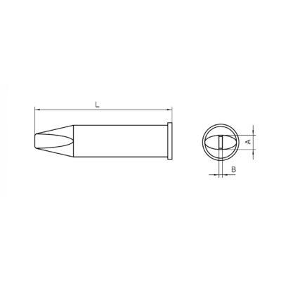 Weller XHT D forrasztócsúcs 5.0x1.2mm